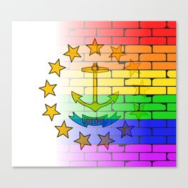 Rainbow Wall Rhode Island Canvas Print
