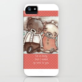 """""""Lucky Bears"""" by Diane Duda iPhone Case"""