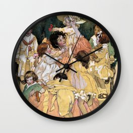 Jessie Willcox Smith - A Child's Garden Of Verses - Digital Remastered Edition Wall Clock