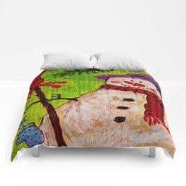Snowman and Broom Comforters