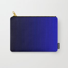 Rich Vibrant Indigo Blue Gradient Carry-All Pouch