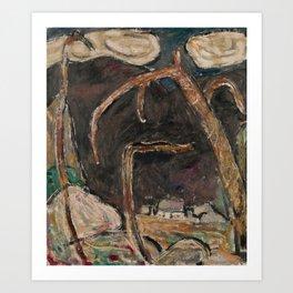 The Dark Mountain, No. 1 by Marsden Hartley Art Print