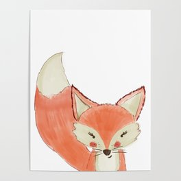 Woodland Cuties || Franny Fox Poster