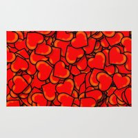 hearts Area & Throw Rugs featuring Heart by 10813 Apparel