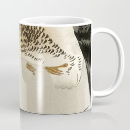 Goose mid flight  - Vintage Japanese Woodblock Print Art Coffee Mug