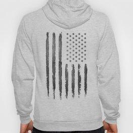 Grey Grunge American flag Hoody