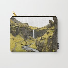 Magical Hidden Gem in Iceland | Kvernufoss Waterfall | Nature and Landscape Photography Carry-All Pouch