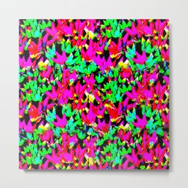 Colorful Leaves Wall Abstract Metal Print