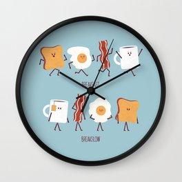 Opposites - Breakfast Wall Clock
