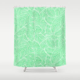 Minty Palms Shower Curtain