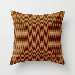 Chevrons #7 Orange and Black Throw Pillow