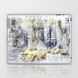 Modern Art NEW YORK CITY Collage Laptop & iPad Skin