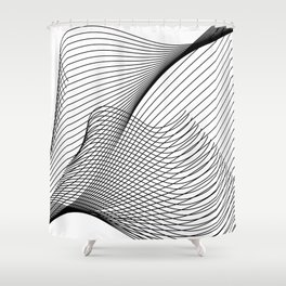 """Script Collection"" - Minimal Letter Z Print Shower Curtain"