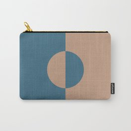 Brown Dark Blue Minimal Half Circle Design 2021 Color of the Year Canyon Dusk & Bering Wave Carry-All Pouch