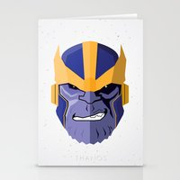 thanos Stationery Cards featuring Thanos by Micah Lanier