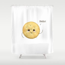 Super Cute Realistic Cracker Kawaii (Clever huh?) :p Shower Curtain