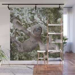 Sloth, A Real Tree Hugger Wall Mural