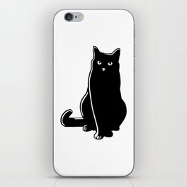 Cat Black Silhouette Pet Animal Cool Style iPhone Skin