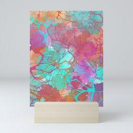 color splatter watercolor digital print Mini Art Print