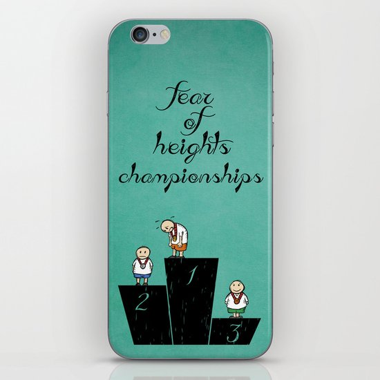 fear of height iPhone & iPod Skin
