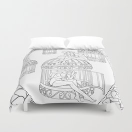 Borges and I Duvet Cover