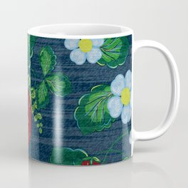 Strawberries and Daisies - Strawberry Patch  - Fruit Coffee Mug