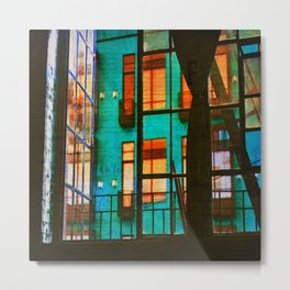 Outside My Window, Urban Art Metal Print