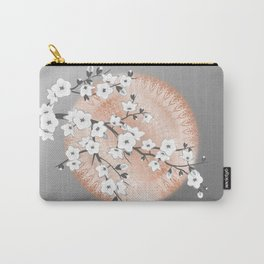 Japanese Cherry Blossom Rose Gold Gray Carry-All Pouch