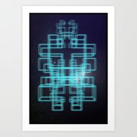 80s Art Prints featuring 80s style by Six Pixel Design