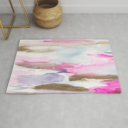 Modern Fluid Abstract Colors Composition Rug