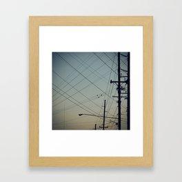 Lines. Framed Art Print