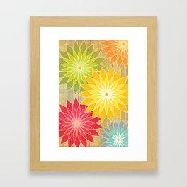 Warm Flowers Framed Art Print