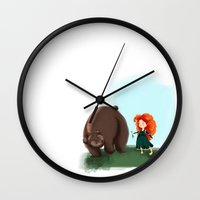 merida Wall Clocks featuring Merida by Lenore2411
