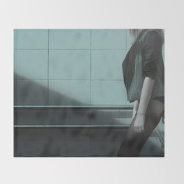 girl waiting for sex whore ass hot Throw Blanket