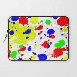 Colorful Paint Splatter. Laptop Sleeve