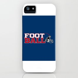 Football in Blue and Red iPhone Case