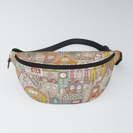 vintage gingerbread town Fanny Pack
