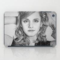 emma watson iPad Cases featuring Emma Watson by Lindsay Hall
