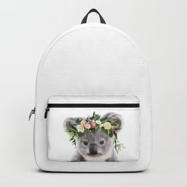 Baby Koala With Flower Crown, Baby Animals Art Print By Synplus Backpack