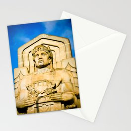Statue On Hope Memorial Bridge II Stationery Cards