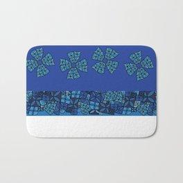 Large Blue Tapa Cross Bath Mat