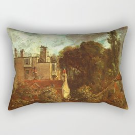 "John Constable ""The Grove, or the Admiral's House in Hampstead"" Rectangular Pillow"