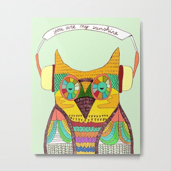 The Owl rustic song Metal Print