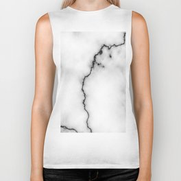 Black and white marble texture 9 Biker Tank
