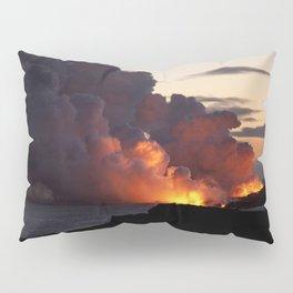 Lava Vaporizes Ocean Pillow Sham