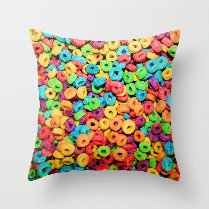 Fruit Loops Cereal Throw Pillow By Chancecarter Society6