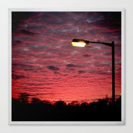 British Winter Sunset Canvas Print