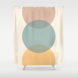 Circle Gradient - Melons Shower Curtain