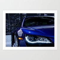 audi Art Prints featuring Audi R8 by Traveler21