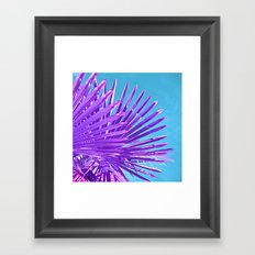 purple palm leaf IV Framed Art Print